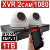 encam 1080p vidéosurveillance CCTV Kit 4 Channel XVR Enregistreur Avec 1tb HDD & 2 x 1080 Caméras Blanc