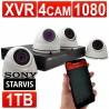 encam 1080p vidéosurveillance CCTV Kit 4 Channel XVR Enregistreur Avec 1tb HDD & 4 x 1080 Caméras Blanc