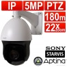 encam PTZ Speed Dome CCTV IP 5MP Camera Pan/Tilt/Zoom 22x Optical Zoom IP66 Laser Lamp 180m Range