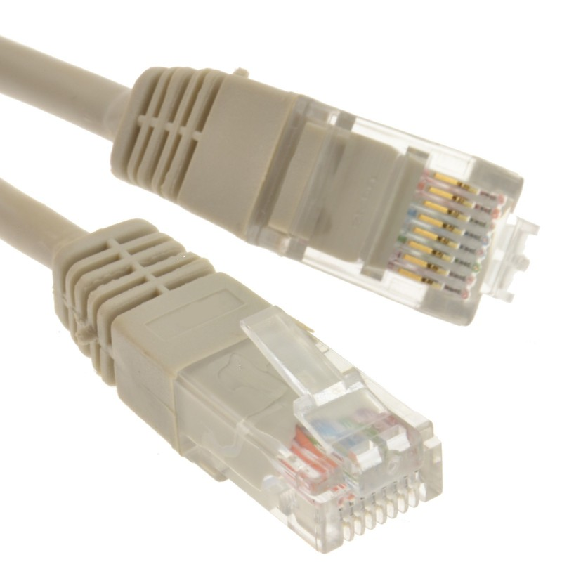 Grey Network Ethernet RJ45 Cat-5E UTP PATCH LAN COPPER Cable Lead 10m