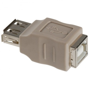 USB 2.0 Adapter A Female to B Female (Grey)