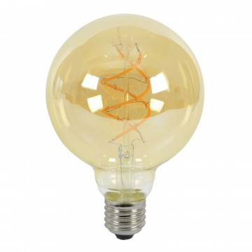 G95 Spiral LED Filament Vintage Warm Light Bulb E27 5W (50W...