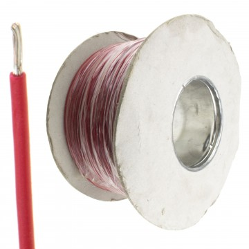 Single Core Equipment Wire 16 x 0.20mm 0.5mm2 Tinned Copper 20AWG 500m Reel RED