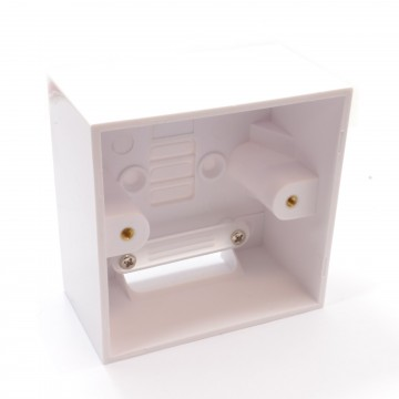 Surface Mount Back Box Pattress Box 1 Gang With Cable...