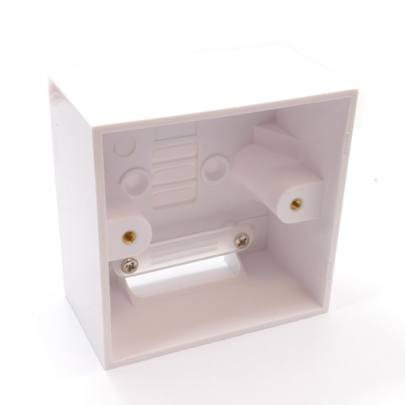 Surface Mount Back Box Pattress Box 1 Gang With Cable Management 47mm