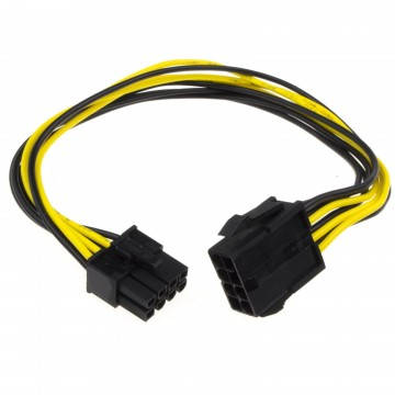 8 Pin PCI Express PCIe Power Extension Cable Male to Female  30cm