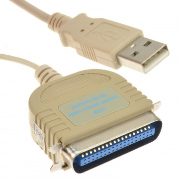 Professional USB to IEEE-1284 Parallel Printer Cable Bi-Directional 2m