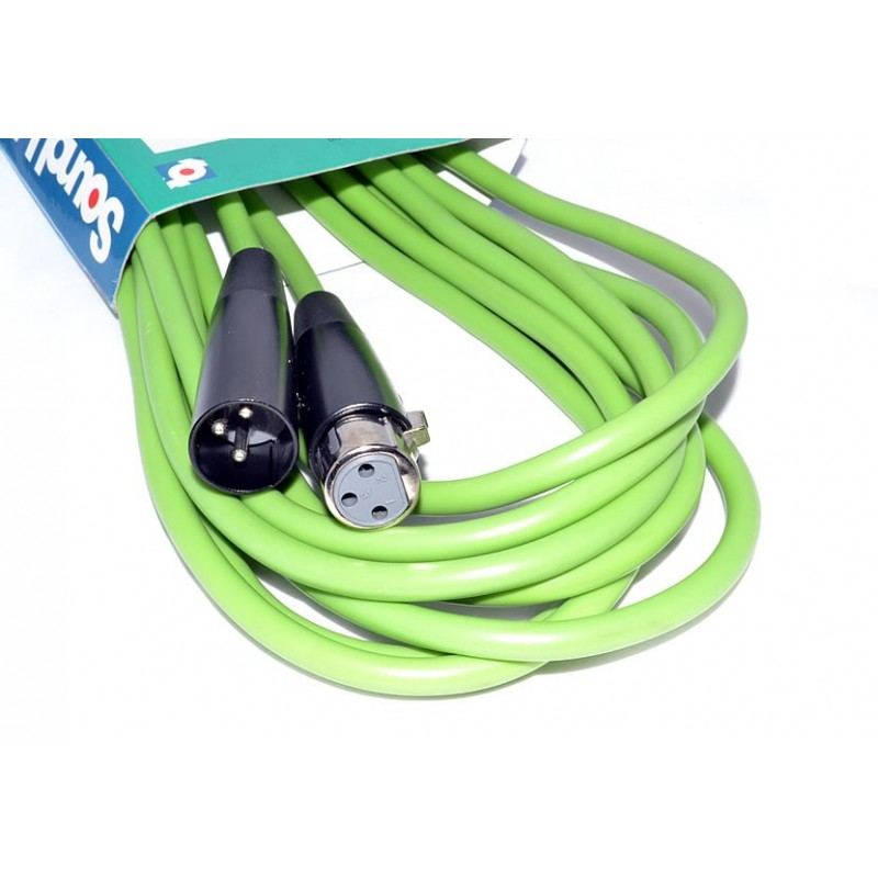 PRO Microphone Cable XLR Male to Female 6m Green