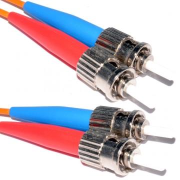 OM1 Orange Fibre Optic ST ST Duplex MM 62.5 125 Patch LSZH Cable 4m