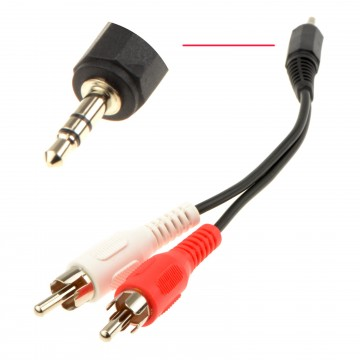 Pro Signal 3.5mm Stereo Jack to 2 x Phono Plugs Audio Cable...