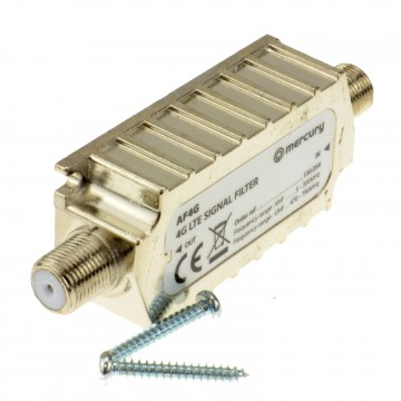 4G LTE Shielded In Line Filter F Type Screw Sockets - Improves Signal