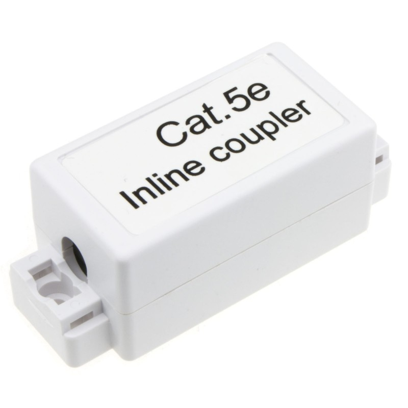 Inline Punch Down Coupler for Lan Cables CAT5e White
