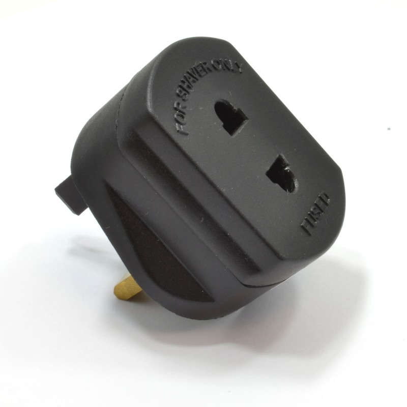 1A Shaver Plug/Toothbrush Charger Converter UK Mains Adapter BLACK