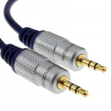 Pure HQ OFC Shielded 3.5mm Stereo Jack to Jack Cable Gold  1m