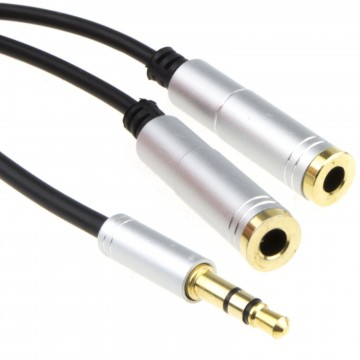 PRO OFC 3.5mm Stereo Jack AUX/Headphone Splitter TPE Cable...