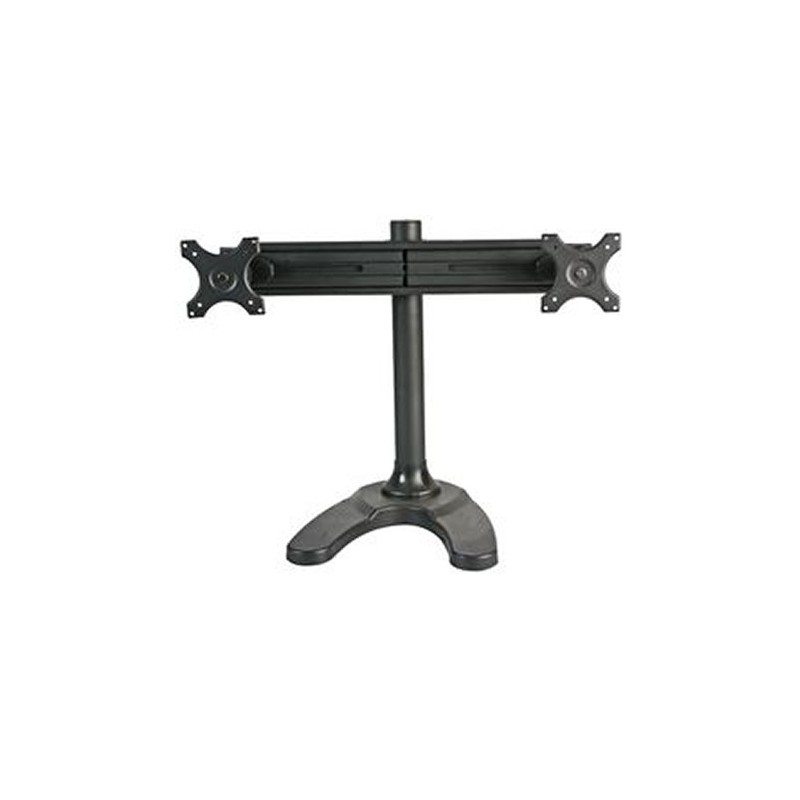Desktop LCD Monitor DUAL Adjustable Arm Bracket With Stand
