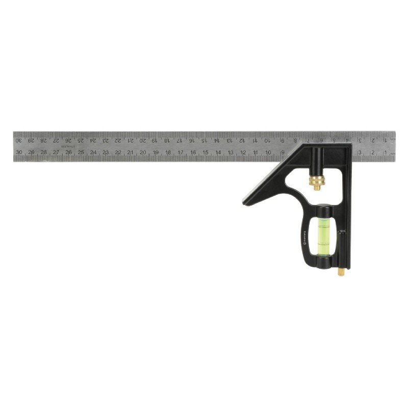 12 inch Combination Mitre / Depth / Try Square Measure with Spirit Level