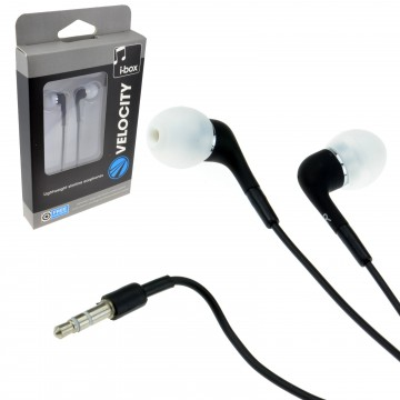 VeloCity MP3 Android Device Music Headphones Ear Buds Black 3.5mm