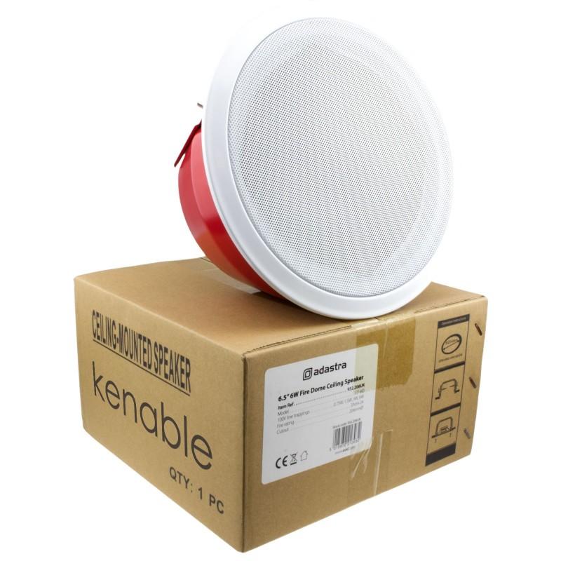 100V All Metal Fire Resistant EN54 Dome Ceiling Speaker 6W 6.5inch