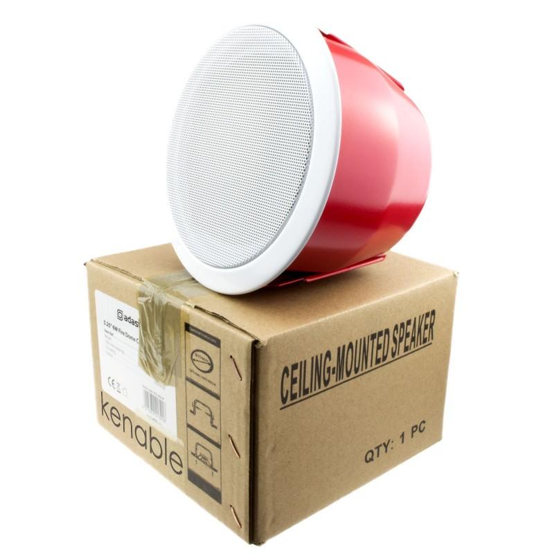 100V All Metal Fire Resistant EN54 Dome Ceiling Speaker 6W 5.25inch