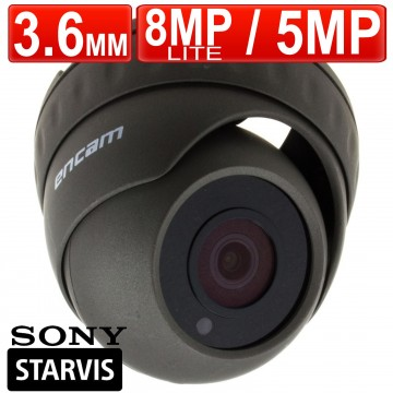 encam CCTV AHD 8MP LITE/5MP 3.6mm SONY STARVIS IMX335 Dome...