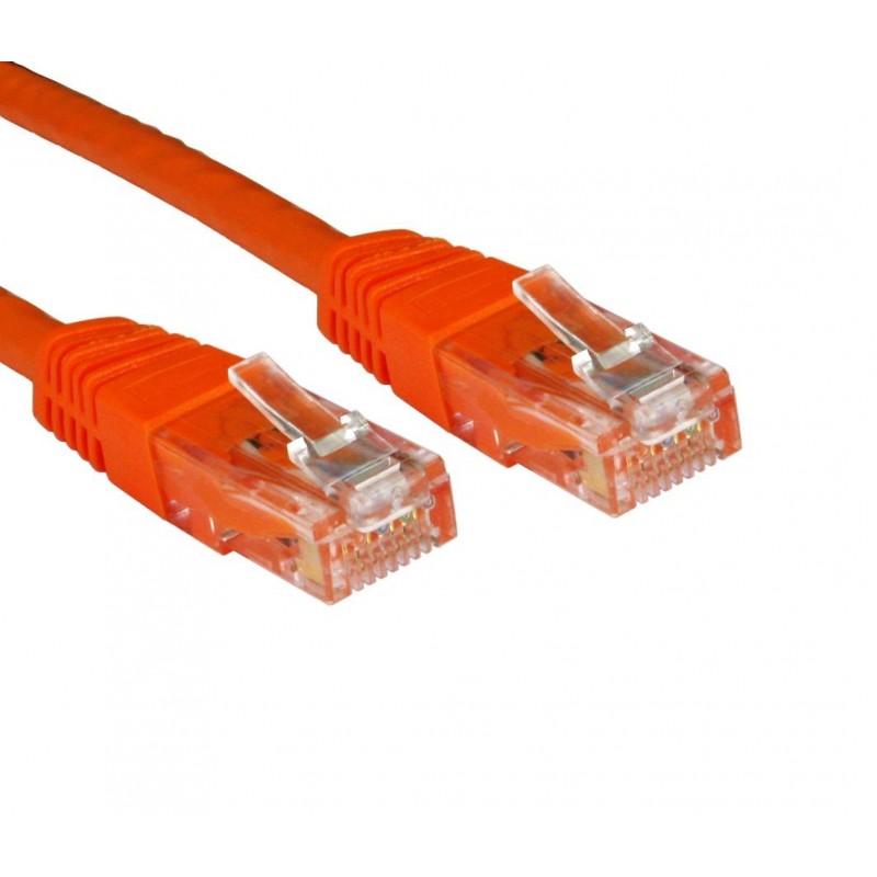 Network CAT6 COPPER UTP Cable GigaBit Ethernet Patch Lead 3m ORANGE