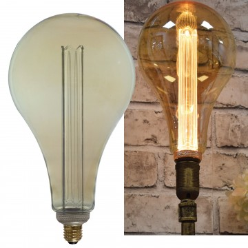 S165 LED Filament Dimmable Bulb 3.5W Warm Glow Vintage Decor...