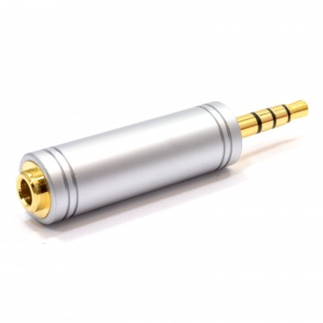 3.5mm 3 Pole Stereo Socket to 17mm 4 Pole 3.5mm Plug All Metal...