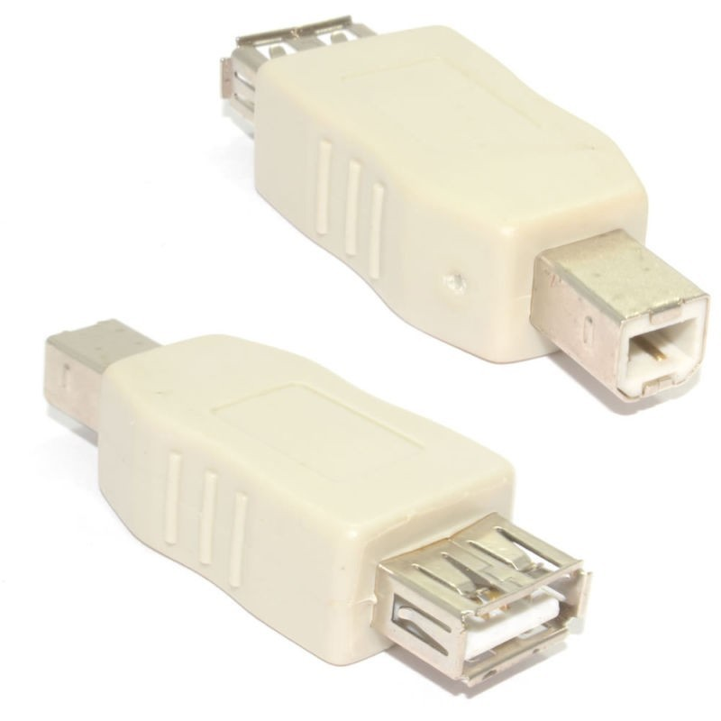 USB 2.0 A Type Female Socket Adapter to B Type Printer Male Plug