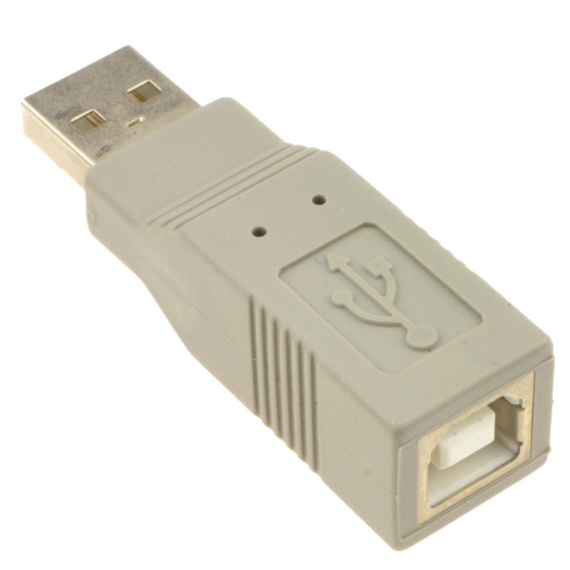 USB 2.0 Adapter/Converter A Male Plug to B Female Socket