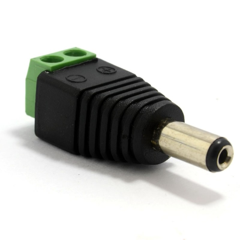 Easy Wire Power 2.1mm DC Plug For CCTV Cameras With Screw Terminals