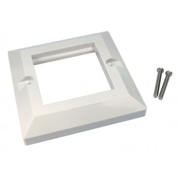 Faceplate 2 Port Dual 85 x 85mm Bevelled Single Gang for RJ45...