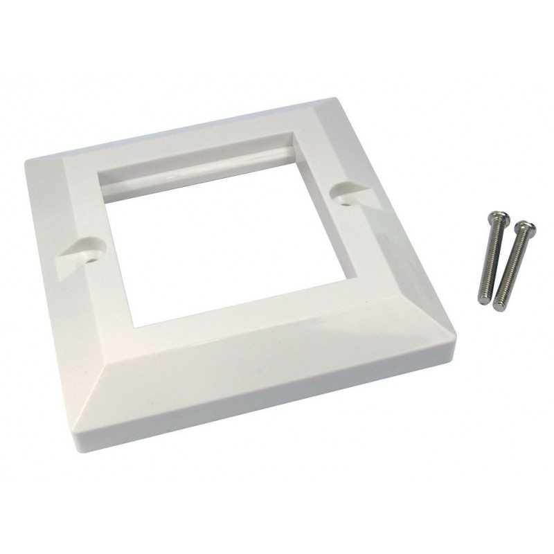 Faceplate 2 Port Dual 85 x 85mm Bevelled Single Gang for RJ45 Modules