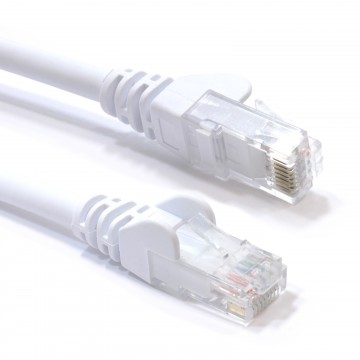 C6 CAT6-CCA UTP RJ45 Ethernet LSZH Networking Cable White  5m