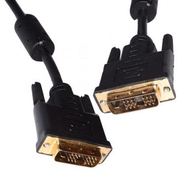 DVI-D Digital Monitor PC 18+1 pin Male to Male Cable Lead 3m GOLD