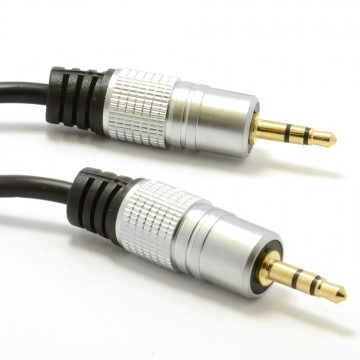 Pro Audio 3.5mm Stereo Jack to Jack Sound Cable Lead Gold 2m