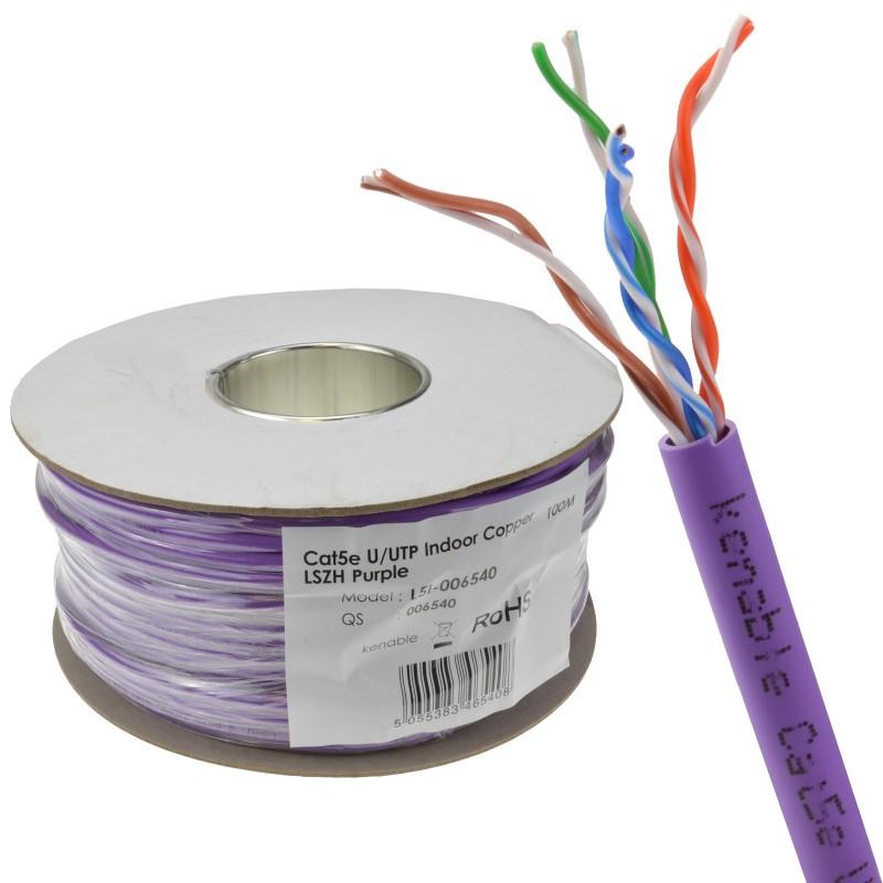 Low Smoke CAT5e LSZH LSOH UTP COPPER Ethernet Network Cable Reel 100m