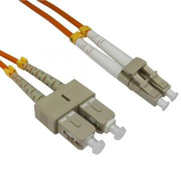 OM2 Orange Fibre Optic LC SC Duplex MM 50 125 Patch LSZH Cable 2m