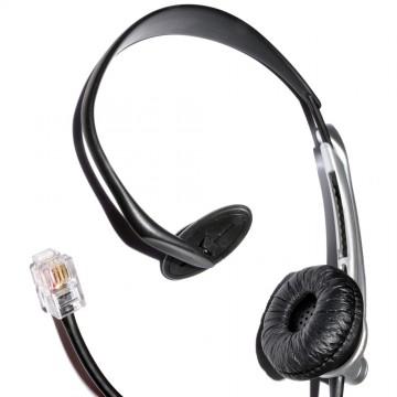 JAC Universal Telephone Handsfree Headset & Boom Microphone 4P4C RJ11