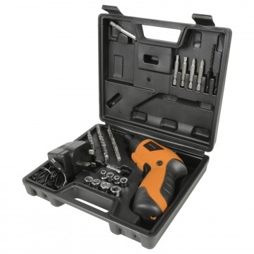 3.6V Cordless Dual Action Drill/Screwdriver & 44 Piece...