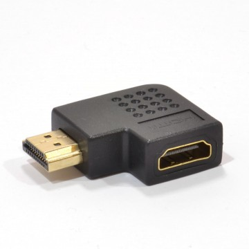 HDMI Horizontal 270 Degree Right Angled Adapter Socket to Plug