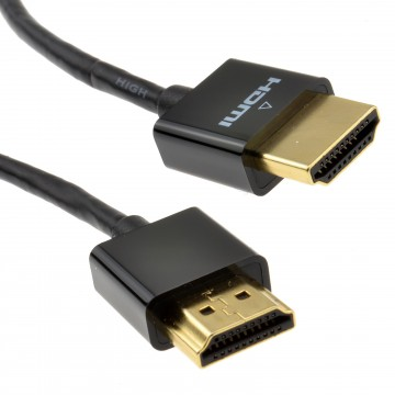 Slim HDMI High Speed 3D TV Low Profile Cable with Ethernet 1m...