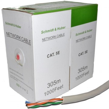 Ethernet Cable Reel Network LAN UTP CAT5e-CCA Solid 305m