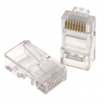 RJ45 Cat5e Ethernet  LAN Crimps Ends for Networks [10 Pack]