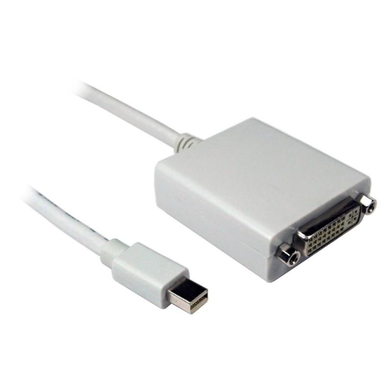 Mini Display Port Plug to DVI-D Female Socket Adapter Cable 3m