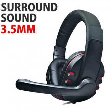 DH-878 Surround Sound Stereo PC Gaming Headset & Microphone...