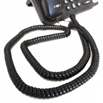 Telephone Handset Coiled RJ10 Plug to RJ10 Plug Cable Lead...