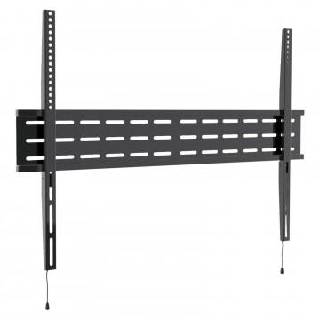 Fixed TV Mount Bracket Low Profile Smart Lock 74/75/80/85inch TV VESA 900 BLACK