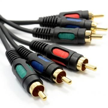 Component Video RGB YUV 3 Phonos To 3 RCA Phono Cable Lead 10m