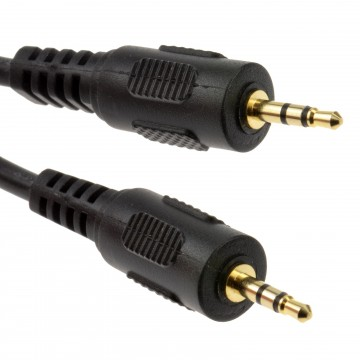 2.5mm GOLD Stereo Jack to 2.5 mm Jack Audio Cable Lead 1m